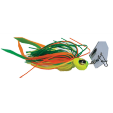 Jaz 1/4OZ Party Grub Green/Yellow/Orange Lure