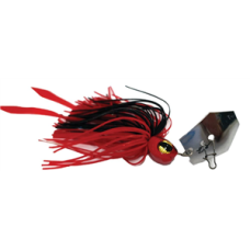 Jaz 1/4OZ Party Grub Red/Black Lure