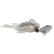 Jaz 1/4OZ Party Grub 06 White Black Fleck Lure
