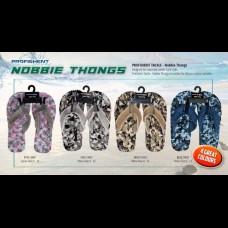 Nobbie Thongs - Blue Camo