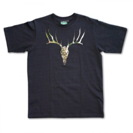 Ridgeline Cotton Deer Tee Black