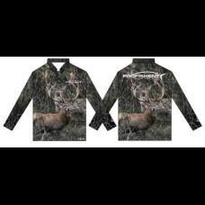 Profishent Hunter Kids Fishing Shirt - Camo Deer