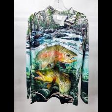 Profishent Sublimated Fishing Shirt - Trout