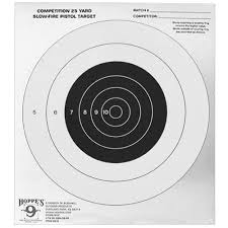 Hoppe's 9 Competition 25 Yards Slow-Fire Pistol Target