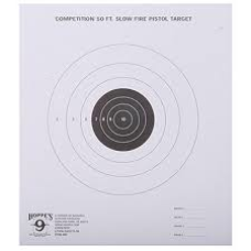 Hoppe's 9 Competition 50 FT. Slow Fire Pistol Target
