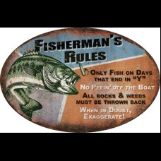 Fisherman's Rules Sign