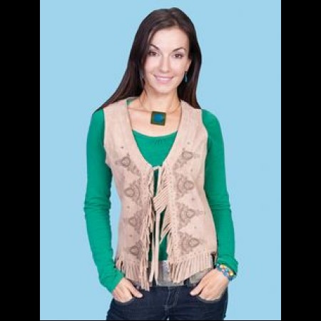 Scully Leather Brown Vest size L