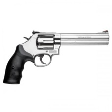 Smith And Wesson Stainless Steel .357 Double action revolver 6""